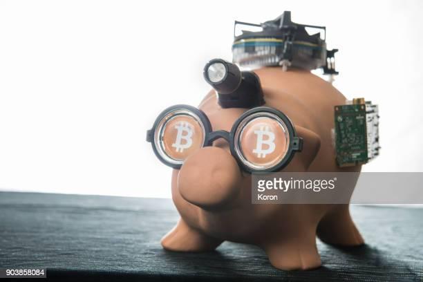 Nerd Bitcoin Pig Bank - Cryptocurrency Machine - Bitcoing Sight