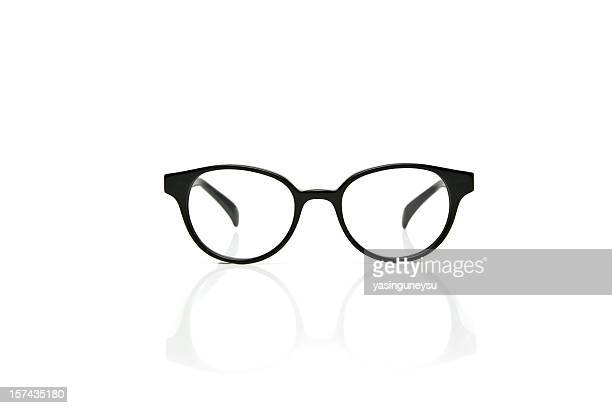 nerd glasses with reflection - eyewear stock pictures, royalty-free photos & images
