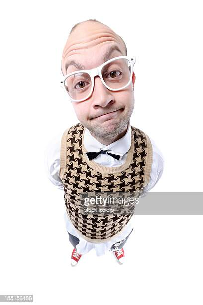 nerd guy grimacing - caricature stock pictures, royalty-free photos & images