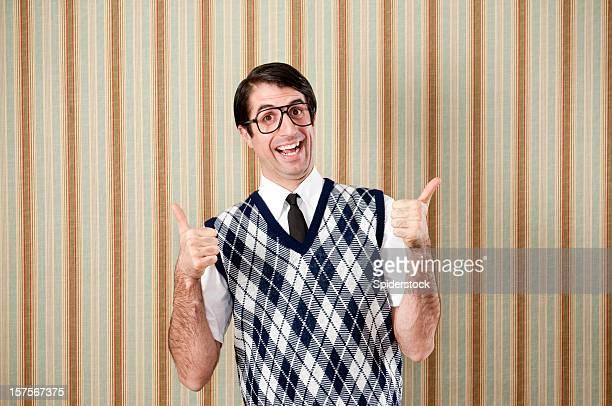 Caixa-de-Óculos em Retro colete com polegares para cima
