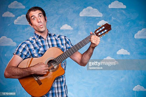 Nerd Serenading With Guitar