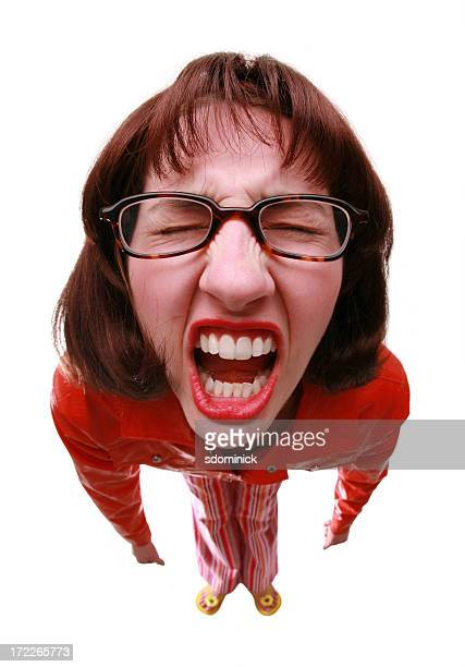 nerd tantrum - ugly face stock photos and pictures