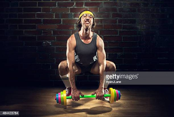 Nerd Weightlifter Lifting Childrens Toy Barbell