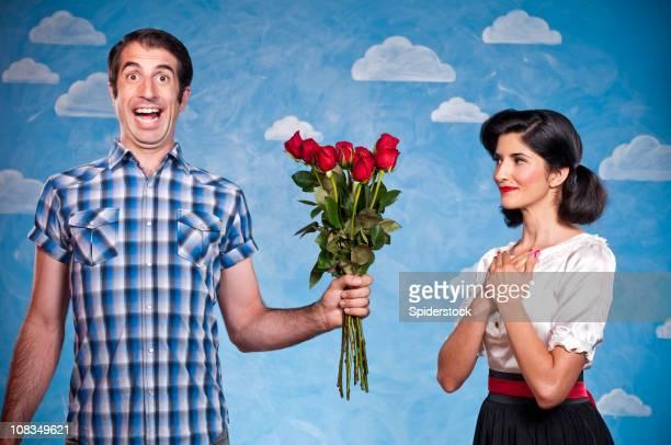 Nerd con Red Roses en una fecha