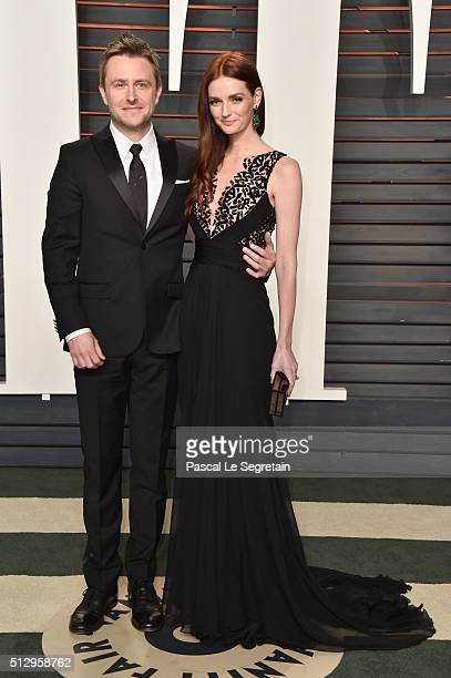 Nerdist Industries founder/CEO Chris Hardwick and Lydia Hearst attend the 2016 Vanity Fair Oscar Party Hosted By Graydon Carter at the Wallis...