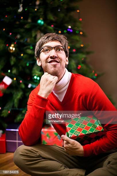 Nerdy Christmas Portrait