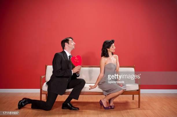 Nerdy Couple With Valentine's Chocolates