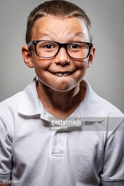 nerd crianças - buck teeth - fotografias e filmes do acervo
