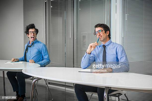 Nerdy Office Worker with Two  Personalities