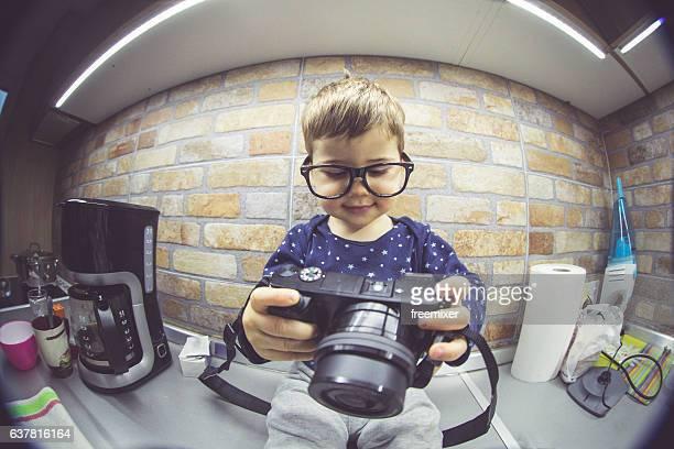 Nerdy photographer