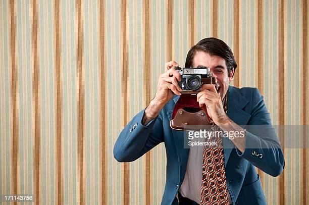 Nerd Turista tirar uma foto