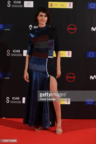 Nerea Barros attends the inaugural gala of the 15th European Film Festival of Seville on November 9 2018 in Seville Spain