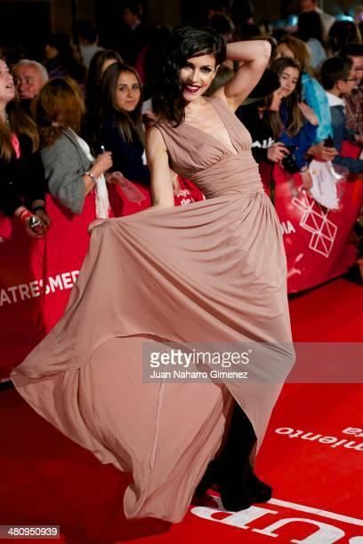 Nerea Barros attends 'Todos Estan Muertos' premiere during the 17th Malaga Film Festival 2014 at Teatro Cervantes on March 27, 2014 in Malaga, Spain.