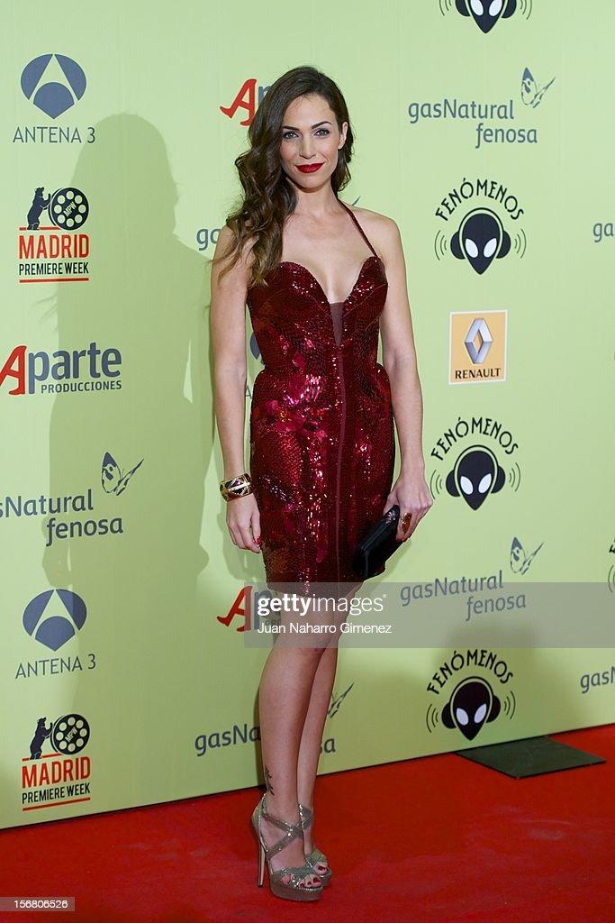 Nerea Garmendia attends 'Fenomenos' Premiere at Callao Cinema on November 21, 2012 in Madrid, Spain.