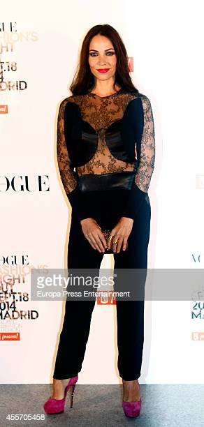 Nerea Garmendia attends the Vogue Fashion's Night Out Madrid 2014 on September 18 2014 in Madrid Spain