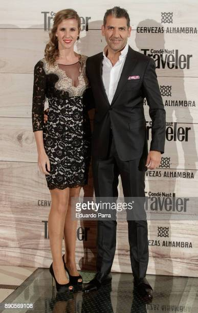Nerea Ruano and Paco Roncero attend the 'Conde Nast Traveler Gastronomic and Wine Guide' photocall at Florida Retiro on December 11 2017 in Madrid...