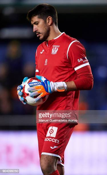 Nereo Champagne of Leganes looks on during the Copa del Rey Round of 16 second Leg match between Villarreal CF and Leganes at Estadio de La Ceramica...