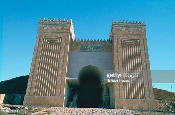 Nergal Gate, Nineveh, Iraq, 1977. Mid 20th century reconstruction of one of the great gates of the ancient Assyrian city of Nineveh.