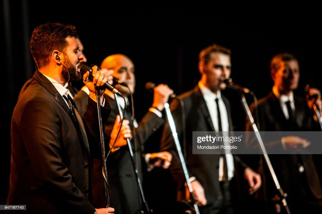 Neri per Caso in concert at the Blue Note in Milan. From the left: Daniele Blaquier. Milan (Italy), 11th January 2017