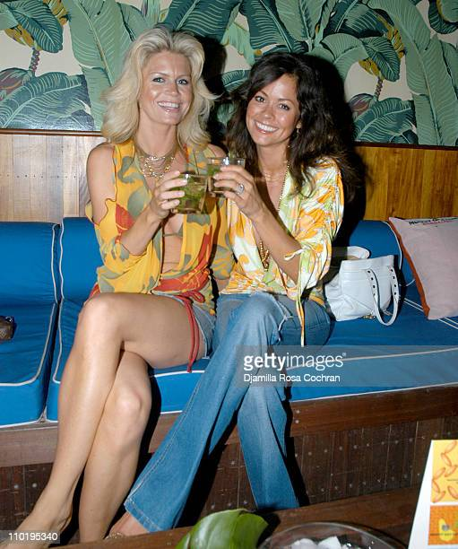 Neriah Davis and Brooke Burke during Brooke Burke and Mount Gay Rum Launch the Newest Flavors Mango and Vanilla at The Maritime Hotel Cabanas in New...