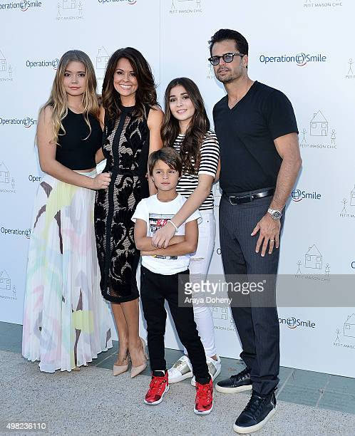 Neriah Fisher Brooke BurkeCharvet Shaya Charvet Sierra Fisher and David Charvet attend the Petit Maison Chic and Operation Smile Kids Charity Fashion...