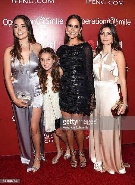 Neriah Fisher Heaven Rain Charvet actress Brooke BurkeCharvet and Sierra Sky Fisher arrive at Operation Smile's Annual Smile Gala at the Beverly...