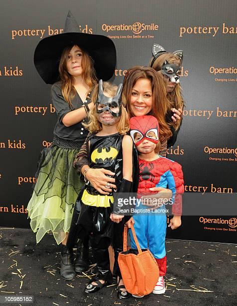 Neriah Fisher Heaven Rain Charvet Shaya Braven Charvet Brooke Burke and Sierra Sky Fisher attend the Pottery Barn Kids' Halloween Carnival...