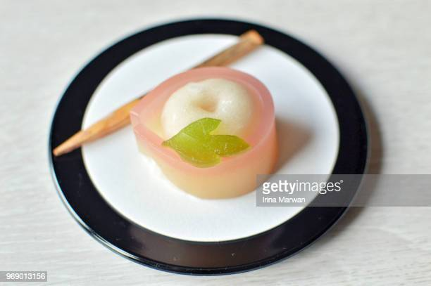 nerikiri wagashi - wagashi stock pictures, royalty-free photos & images