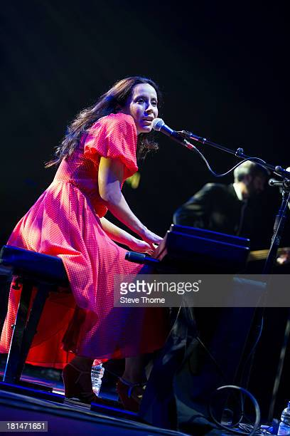 Nerina Pallot performs on stage at LG Arena on September 21 2013 in Birmingham England