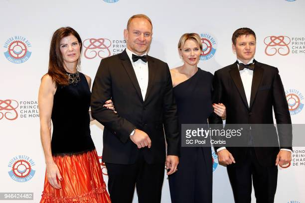 Nerine and Francois Pienaar Princess Charlene of Monaco and Gareth Wittstock attend 'Riviera Water Bike Challenge' Gala at YCM on April 14 2018 in...