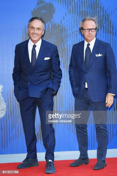 Nerio Alessandri and a guest attend the Franca Sozzani Award during the 74th Venice Film Festival on September 1 2017 in Venice Italy