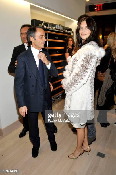 Nerio Alessandri and Adriana Lima attend Technogym US Showroom Launch Event at 70 Greene St on November 16 2010 in New York City