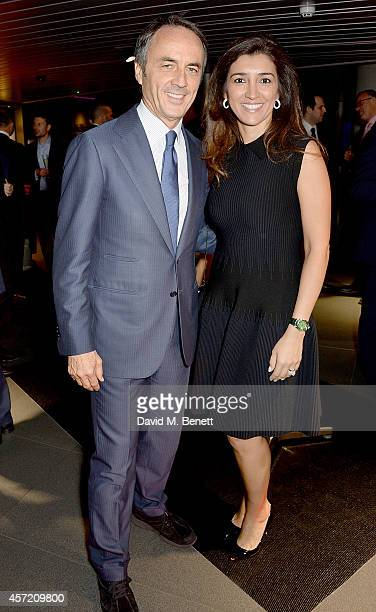 Nerio Alessandri and Fabiana Flosi attend Technogym McLaren Celebrate 10 Years of Partnership at the McLaren Showroom on October 14 2014 in London...