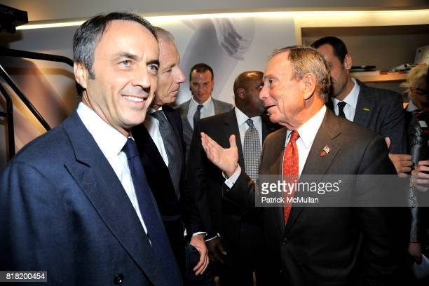 Nerio Alessandri and Mayor Michael Bloomberg attend Technogym US Showroom Launch Event at 70 Greene St on November 16 2010 in New York City