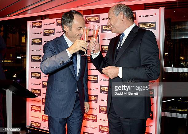 Nerio Alessandri and Ron Dennis attend Technogym McLaren Celebrate 10 Years of Partnership at the McLaren Showroom on October 14 2014 in London...