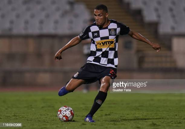 Neris of Boavista FC in action during the Liga NOS match between Belenenses SAD and Boavista FC at Estadio Nacional on August 30, 2019 in Oeiras,...