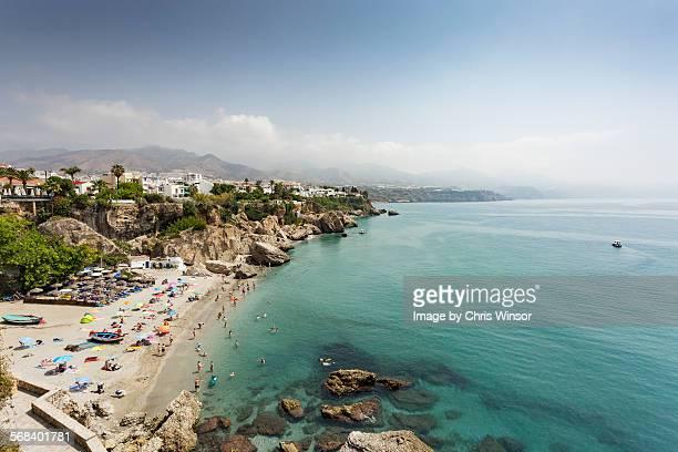 nerja - calahonda beach - マラガ県 ストックフォトと画像
