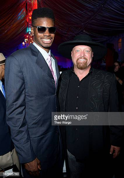 Nerlens Noel and singer Eddie Montgomery attend the Barnstable Brown Gala hosted by GREY GOOSE at Barnstable Brown House on May 3 2013 in Louisville...