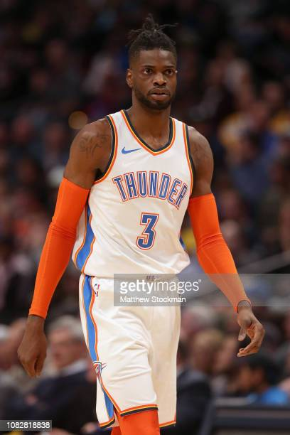 Nerlens Noel of the Oklahoma City Thunder plays the Denver Nuggets at the Pepsi Center on December 14 2018 in Denver Colorado NOTE TO USER User...