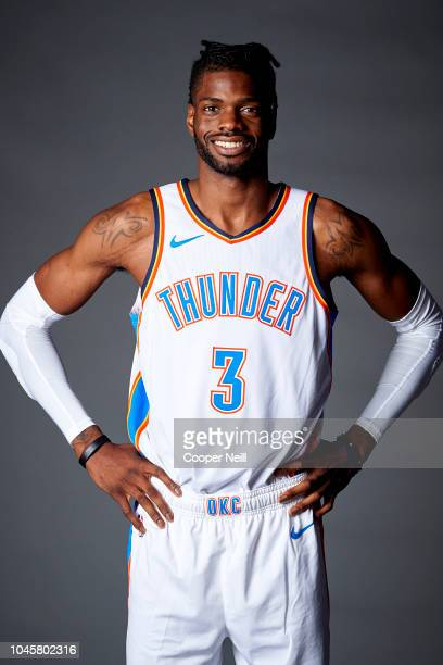 Nerlens Noel of the Oklahoma City Thunder poses for a photo during media day at the Chesapeake Energy Arena on September 24 2018 in Oklahoma City...