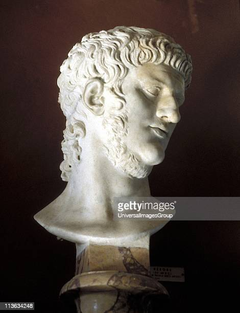 Nero Roman emperor from 54 Marble bust