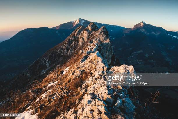 neron sunset - grenoble stock pictures, royalty-free photos & images