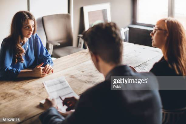 nervous on job interview - recruitment stock pictures, royalty-free photos & images