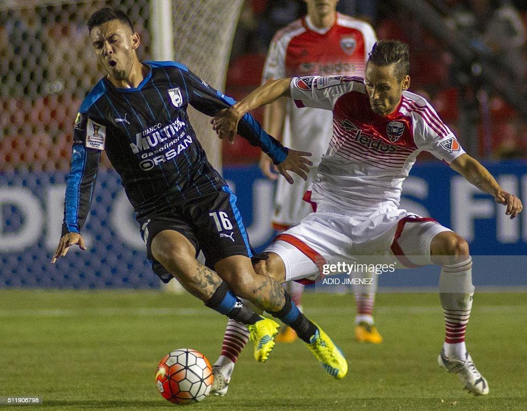 FBL-CONCACAF-QUERETARO-DC-UNITED : News Photo