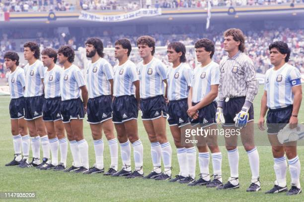 Nery Pumpido, Jose Brown, Nestor Clausen, Oscar Garre, Oscar Ruggeri, Sergio Batista, Jorge Burruchaga, Diego Maradona, Ricardo Giusti, Jorge Valdano...