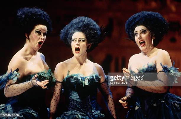 Nerys Jones Penelope Walker and Penelope WalmsleyClark perform in an English National Opera production of The Magic Flute