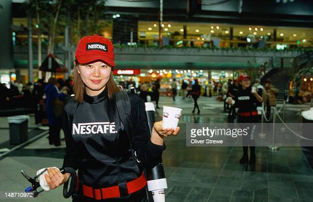 Nescafe marketing, Japanese-style, at Sapporo airport