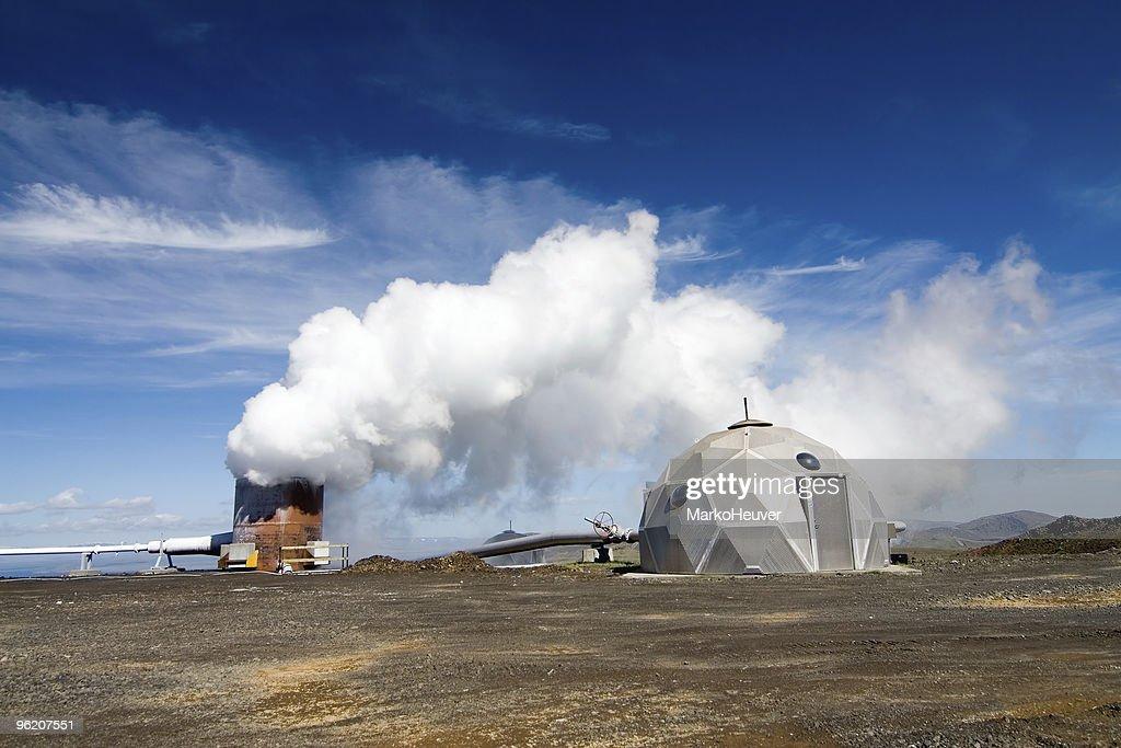 Nesjavellir Geothermal Power Plant In Iceland Stock Photo