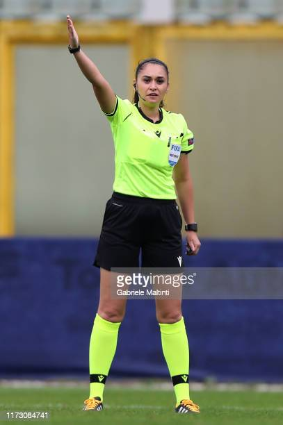 Neslihan Muratdagi referee during the UEFA European Women's Under19 Qualifying Round Group 8 match between Italy U19 and Estonia U19 at Stadio...
