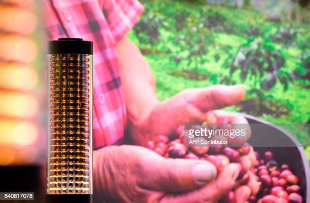 Nespresso coffee capsules are pictured as preparations are under way for the consumer electronics fair IFA in Berlin on August 30 2017 household...